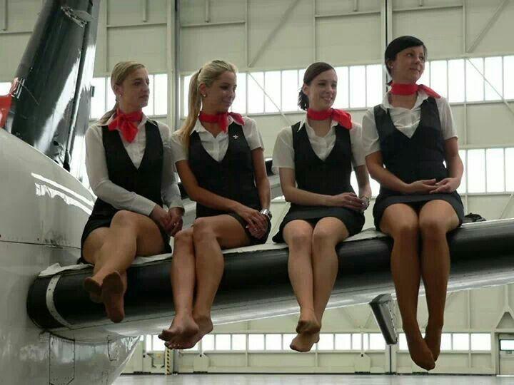 Women In Panties Flight Attendants Pic