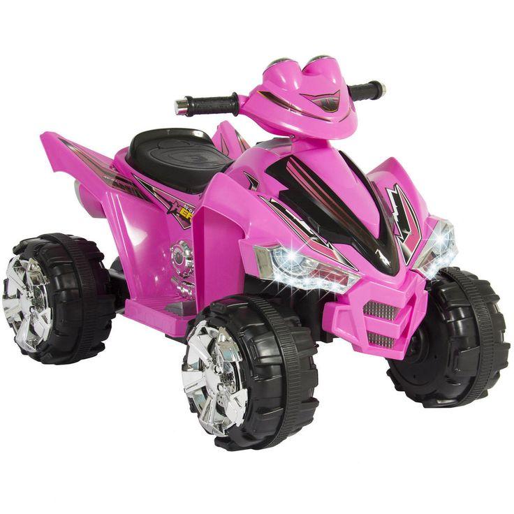 Girls Ride On Quad Bike 12V Battery Powered Pink ATV Kids 4 Wheeler Ride On Toy  #Unbranded