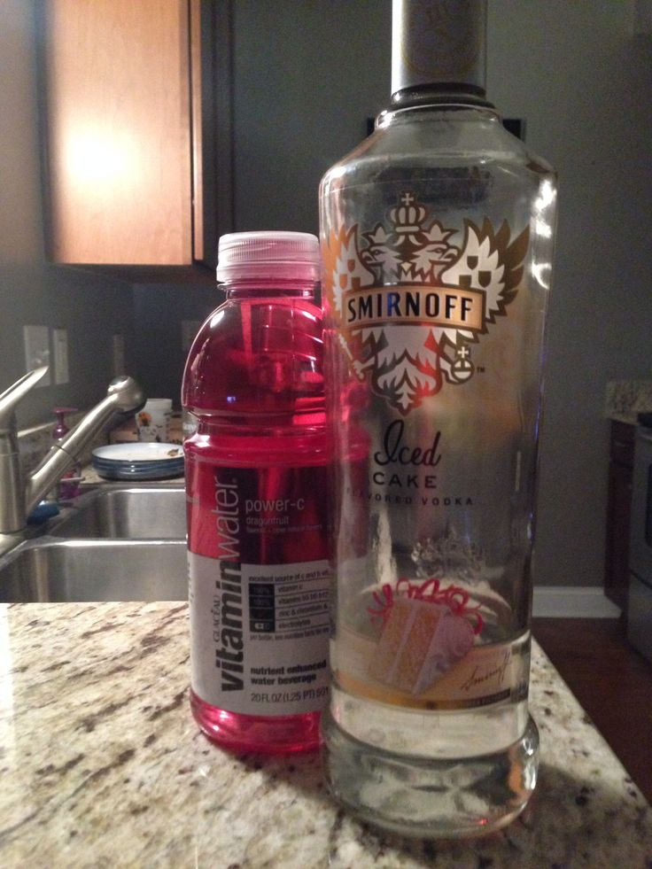Red Velvet Cake Drink! No hangover and taste Amazing!!! Power-C vitamin water and cake vodka!