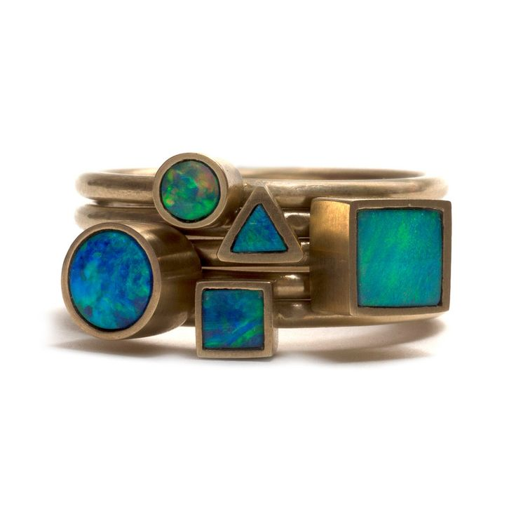 Golden Opal Element Stacking Ring – Pieces of Eight Gallery