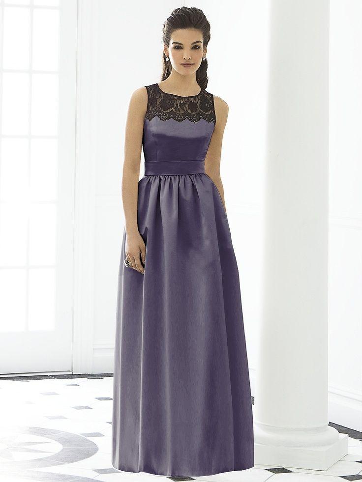 Excepcional Amsale Vestidos De Dama De Honor Rubor Embellecimiento ...