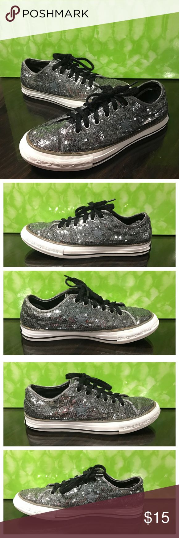 Converse one star shoes In good condition only has a few missing shown in the last picture but nothing that is noticeable. Please carefully review each photo before you purchase since this is the best description for the item. Converse Shoes Sneakers