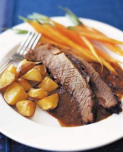 Brasato al Barolo | Stewed #Beef cooked with Barolo #Wine, Piemonte