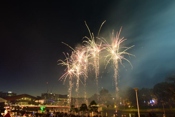 New Years fireworks at Elder Park