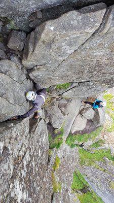 Klettern auf die Gaita