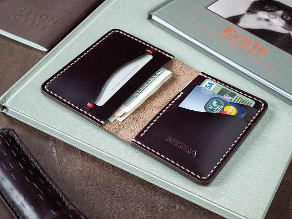 Horween Chromexcel No8 Leather Horizontal Bifold Wallet by SHKIRA