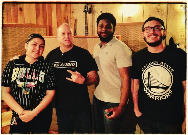 "#ESAudio #RecordingStudio Enjoyed having #DJ Carisma (left) from POWER 106 FM in "" #Studio A "" w/ Rhyan Shaw (2nd from right)...:) #Rock On!:) (Pictured l-r: DJ Carisma, ES Audio's Lead Engineer ""dB"", Rhyan Shaw and ESAudio's Chris Wood:) www.ESAudio.com 2015"