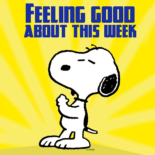 Feeling good about this week.