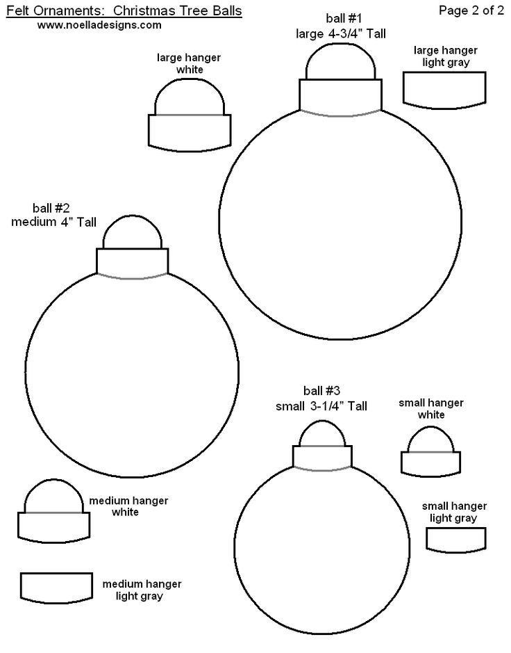 FREE Printable Christmas Ornament Templates - Felt