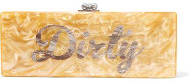Edie Parker - Flavia Dirty Acrylic Box Clutch - Yellow