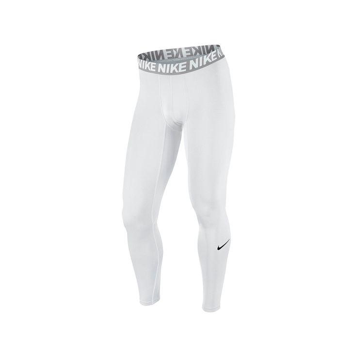 Men's Nike Dri-FIT Base Layer Compression Cool Tights, Size: Medium, White