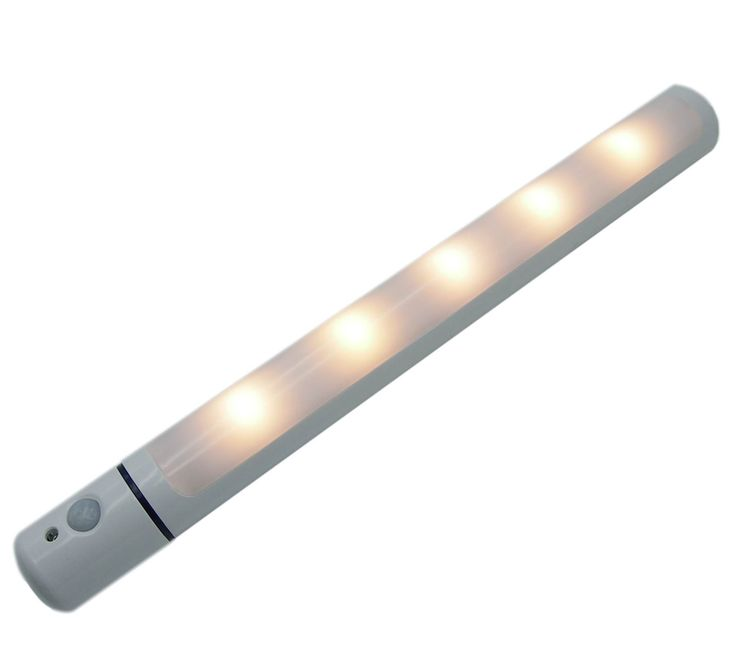 POWER PRIMACY Rotating Motion Sensor Light Wireless Infrared Induction LED Closet Light with Magnetic Strip and ON OFF AUTO 3 Modes Stick-on Anywhere Portable LED Night Light Bar,Battery Operated