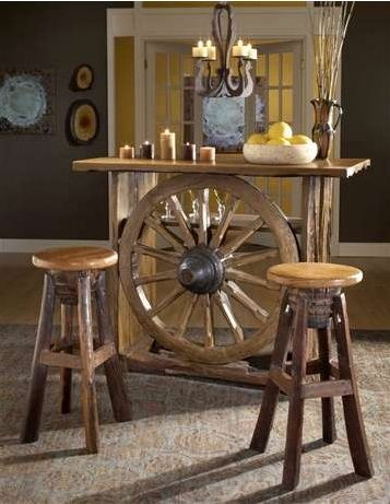 Beautiful Bar with Wheels for Home