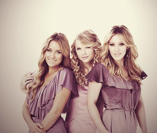 Lauren Conrad, Taylor Swift, and Hilary Duff.