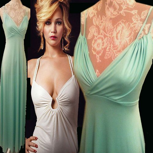 2pc Mint Green Vintage 70s Sexy Disco STUDIO 54 Gown Chiffon Cape Blouse Saturday Night Fever