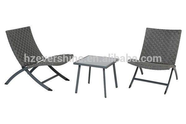 Cheap bistro set 3pcs table chairs balcony set patio rattan furniture