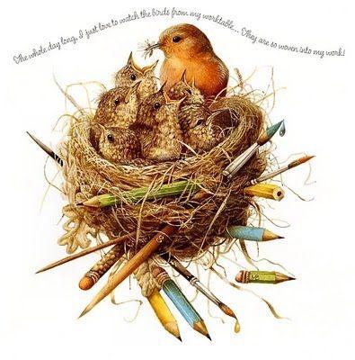 ☼: Natures Sketchbook, Artists, Marjolien Bastin, Bastin Art, Illustration, Artist Marjolein, Birds, Art Marjolein Bastin, Bastin Marjoram