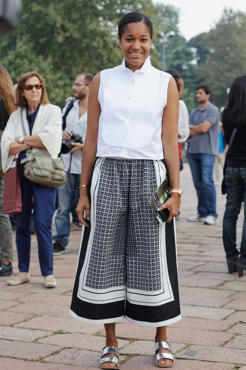 Yes, you can wear culottes to the office! See how Tamu McPherson makes trends totally professional with her 30 best outfits.