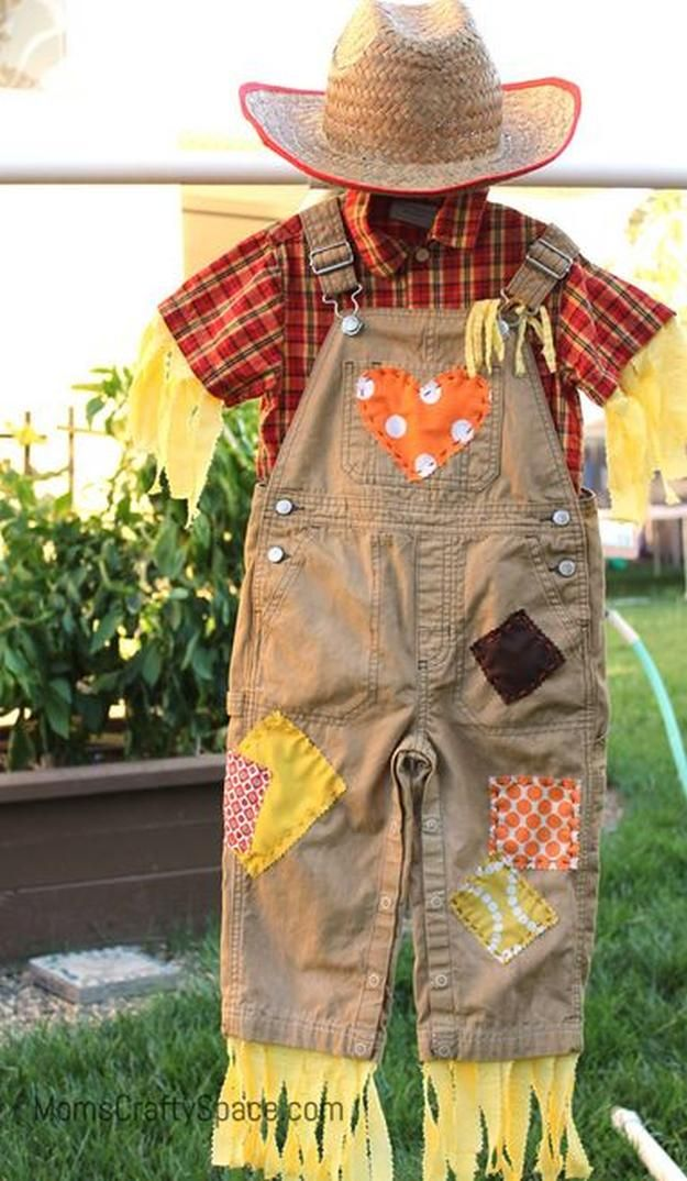 toddler scarecrow costume, see more at http://diyready.com/diy-scarecrow-costume-ideas