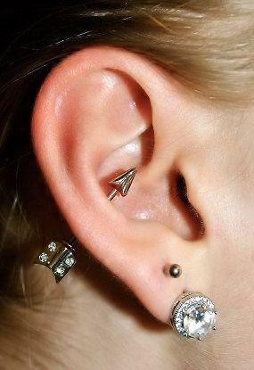 Arrow Orbital Outer Conch Piercing Nipple Bar Barbell Earring 14g 14 G Ear Gauge Arrowhead Head I NEED THIS NOW. HELLO BIRTHDAY LIST.