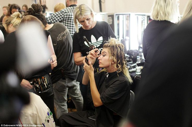 Calm: Showing the preparation that goes into being a catwalk model, Hailey…