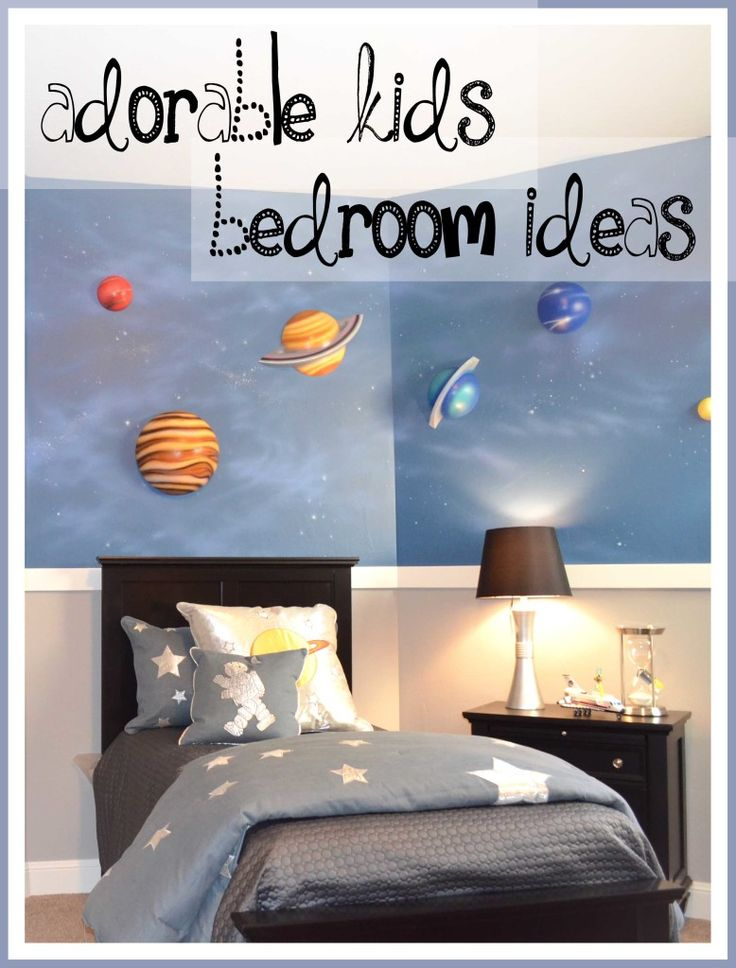 12 Great ideas to improve any kid's bedroom -These are so cute!! This will have you redecorating in no time.