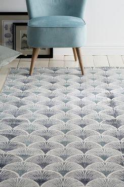 Ellos Home Bomullsmatta Clearwater 140x200 cm Matta av bomull med tryckt mönster. Tvättad kvalitet som ger en mjuk känsla och snygg look. Stl 140x200 cm.<br><br>För ökad säkerhet och komfort, använd halkskyddsmatta som håller din matta på plats. Halkskyddsmattan finns i flera olika storlekar. <br><br>100% bomull<br>Tvätt 40°