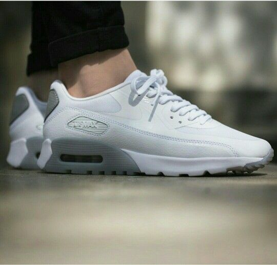 Nike wmns air max 90 ultra essential, white /wolf grey
