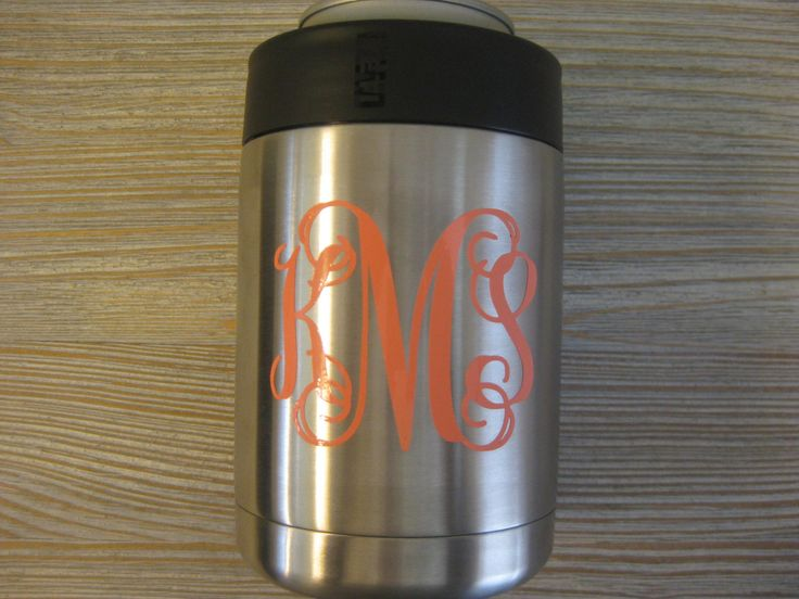 Yeti Monogram Decal - Yeti Decal - Monogram Yeti Decal - Yeti Colster Decal - Monogram Decal - Yeti - Cup Decal - Yeti Tumbler - Decal by TheSaltyKiss on Etsy