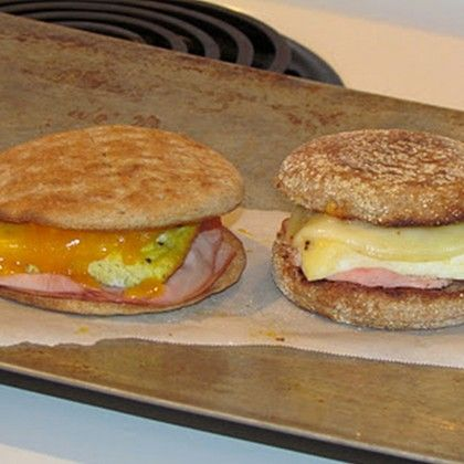 homemade breakfast sandwiches freezer meal for new moms