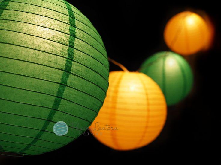 12 St Patricks Day Paper Lantern String Light COMBO Kit 21 FT