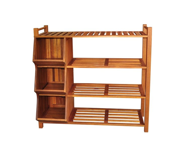 Image of: Tall Shoe Rack Wooden