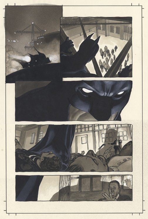 Just Say AH! :: Misc. DC Comics Covers and Art :: Batman Black & White page 3