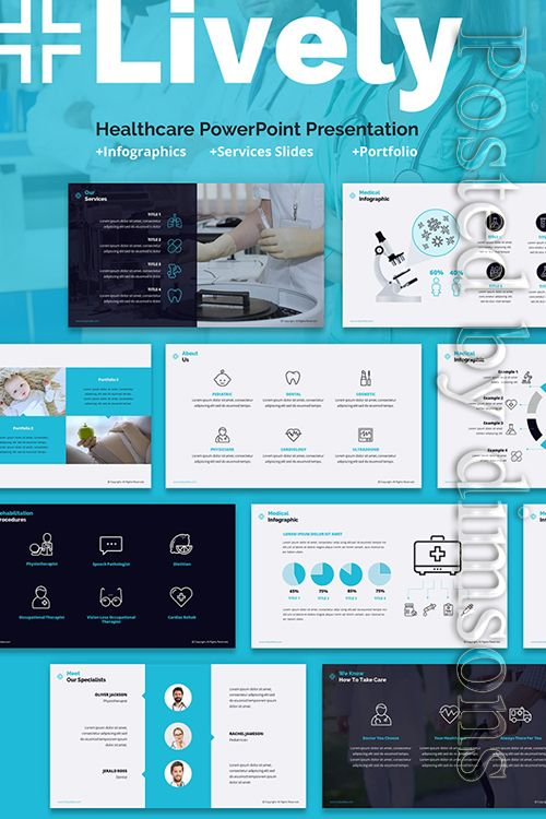 Lively Healthcare PPT Slides PowerPoint Template Free