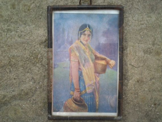 A charming mimiature print of a lady carrying water by Lallibhai, £12.00