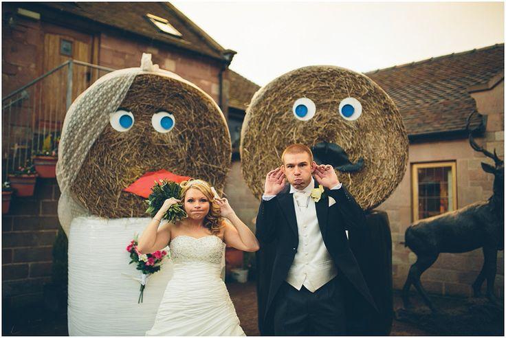 Heaton House Farm Wedding Venue, Cheshire, The Crawleys Photography, cgweddings, Mr and Mrs Strawson, bride and groom, wedding day, fun wedding photographs, farm wedding