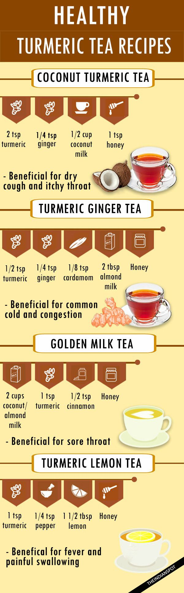 "HEALTHY TURMERIC TEA RECIPES //20% OFF Sale! Use coupon ""Pinterest20"" at getcutea.com to order CUTEA Herbal Teas!"