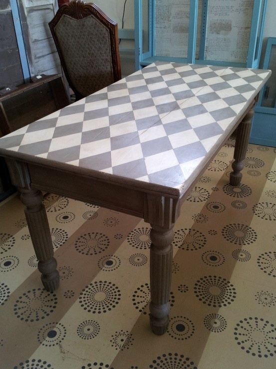 Great Table Upcycled With Annie Sloan French Linen And Old White!