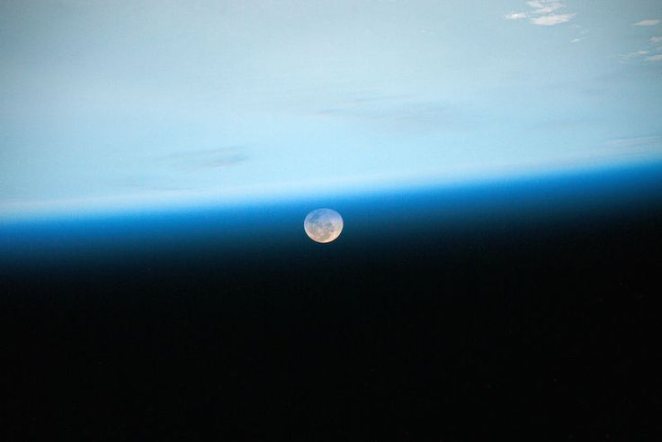"""51 Favourite Photos from Astronaut Scott Kelly's First Six Months in Space July 2, 2015: """"Day 97. Good night, Moon."""""""