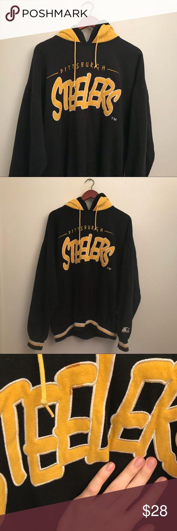 Vintage Starter Pittsburgh Steelers double hoodie CRAZY