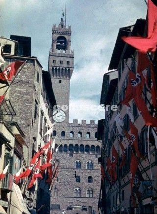 vista del famoso palazzo della signoria 1938