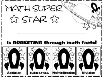 Flexible Math Facts Certificate for Addition, Subtraction, Multiplication, Division and Fractions. Designed for use with the Rocket Math program to celebrate each level of completion, but can be used with any math facts program. Print on colored paper