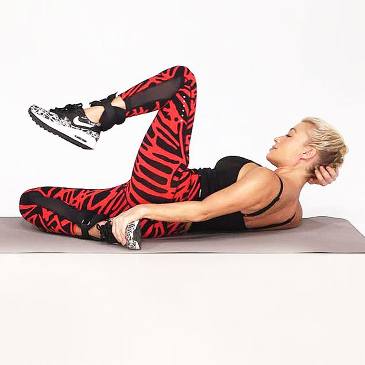 Get ready for killer abs! Watch this video with celebrity fitness trainer Tracy Anderson to learn how to do the Cross & Kick, a calorie-torching move that tones your legs and core. While this exercise looks complicated, keeping your abs engaged will help make the movement easier. | Health.com