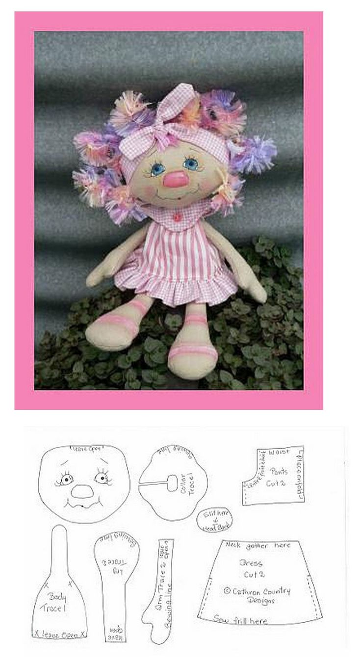 .doll stuffed toy pattern