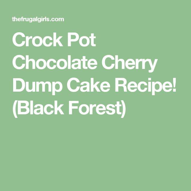 Crock Pot Chocolate Cherry Dump Cake Recipe! (Black Forest)
