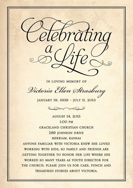 25 best memorial ideas on pinterest funeral ideas for Celebration of life program template