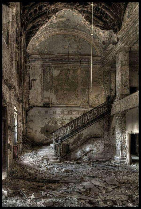 Abandonded high school.