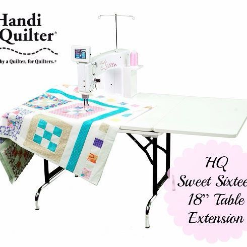 """#featurethursday  Make quilting a breeze with the Sweet Sixteen 18"""" Table Extension! • Table Extensions –18"""" wide x 30"""" deep • Can retrofit to any HQ Sixteen Sit-Down Table or New HQ Sweet Sixteen Table • Easy setup on either side or buy two; one for each side!  http://www.handiquilter.com.au/product/hq-sweet-sixteen-table-18-extensions/"""