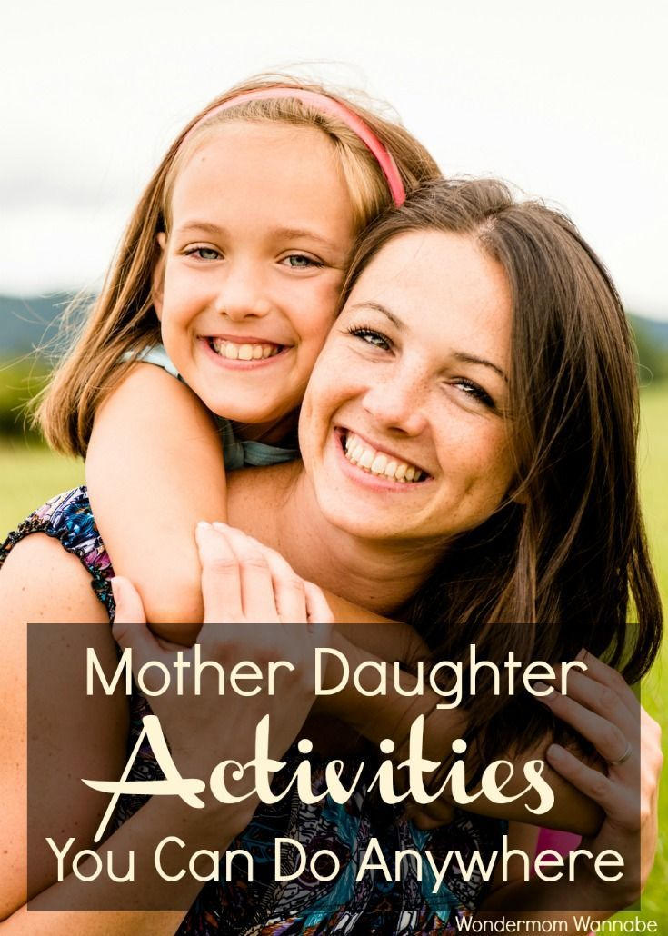 Fun mother daughter activities you can do anywhere from the dentist waiting room to the school drop off line. via @wondermomwannab