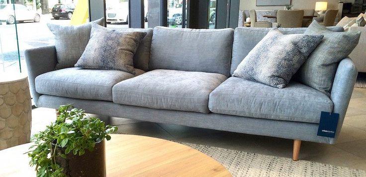 Alberto 3-seater sofa, base is fully upholstered and is raised off thefloor onstilettotimberlegs. Price $3569. Australian made.